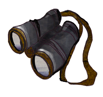 Binoculars Illustration