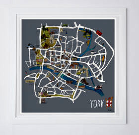 York Map Fine Art Print