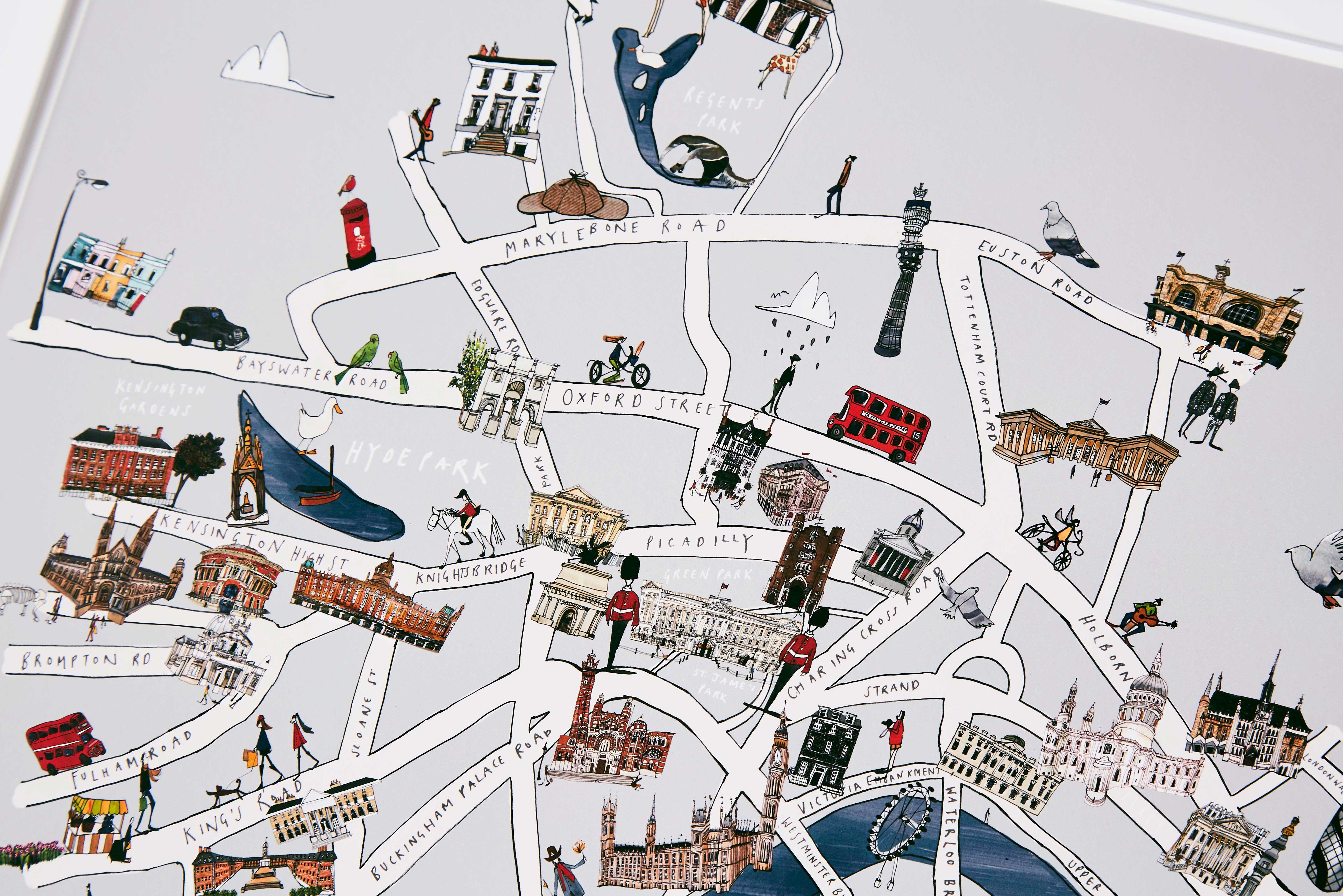 Map F London.London Map Fine Art Print