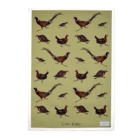Game Birds Cotton Tea Towel