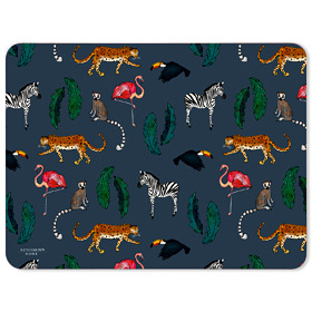 Exotic Animals Melamine Placemat in Navy