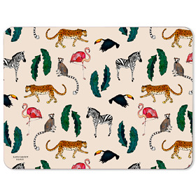 Exotic Animals Melamine Placemat in Cream