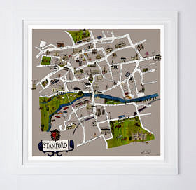 Stamford Map Fine Art Print