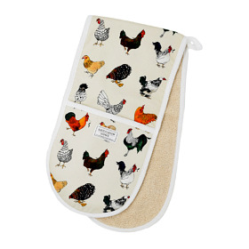 'Chickens' Cotton Double Oven Gloves