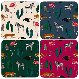 Exotic Animals Drinks Coasters