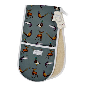 'Country Estate' Cotton Double Oven Gloves