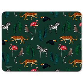 Exotic Animals Melamine Placemat in Green