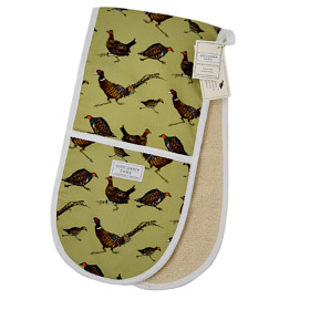 'Game Birds' Cotton Double Oven Gloves