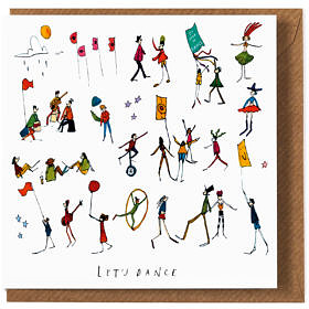 Lets Dance Birthday Card
