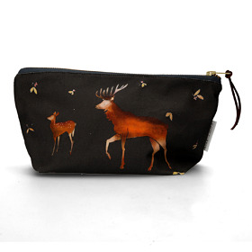 Dear Stag Cotton Cosmetic Bag