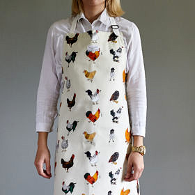 Chickens Cotton Apron - Wonky Sale