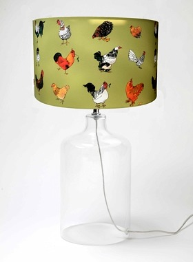 Chickens Lampshade