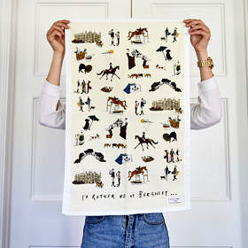 Id rather be at Burghley Cotton Tea Towel