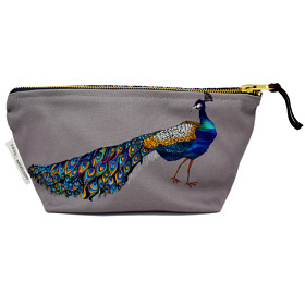 Peacock Cotton Cosmetic Bag