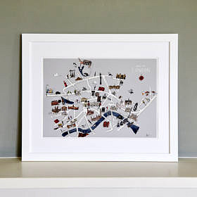 London Map Fine Art Print