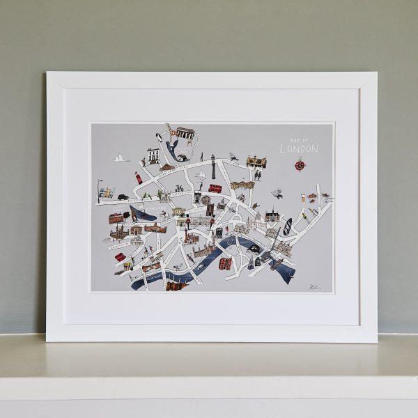 London Map Fine Art Print