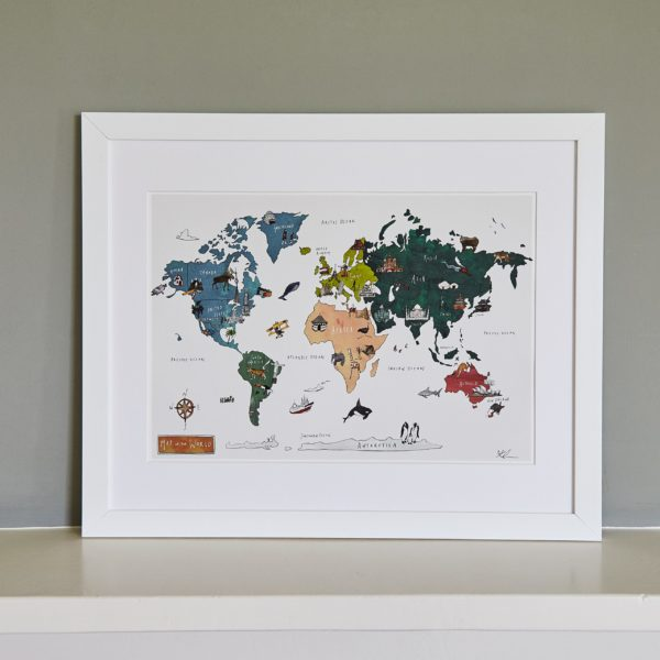 World Map Fine Art Print