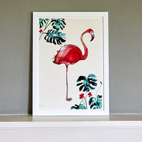 Flamingo Deliciosa (left) Fine Art Print