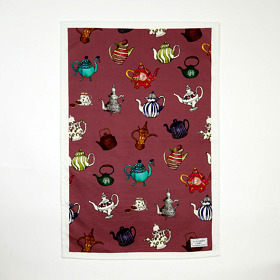 Teapots Cotton Tea Towel