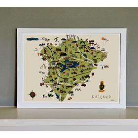 Rutland Map Fine Art Print