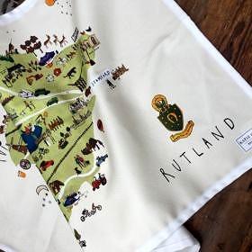 Rutland Map Cotton Tea Towel