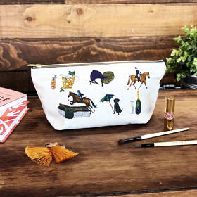 Horse Life Cotton Cosmetic Bag