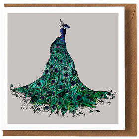 Peacock Greeting Card **New**