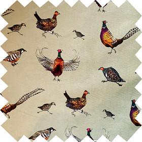 'Game Birds' Fabric