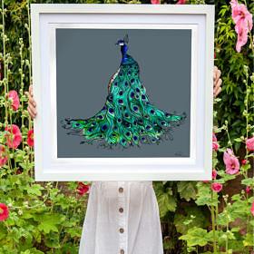 'Proud Peacock' Fine Art Print