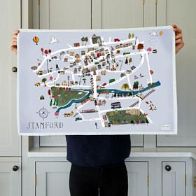 Stamford Map Tea Towel