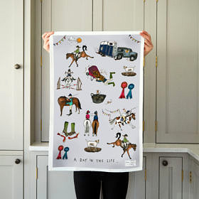 A Day in the Life Tea Towel