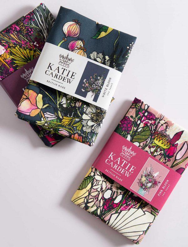katie cardew blooms tea towels