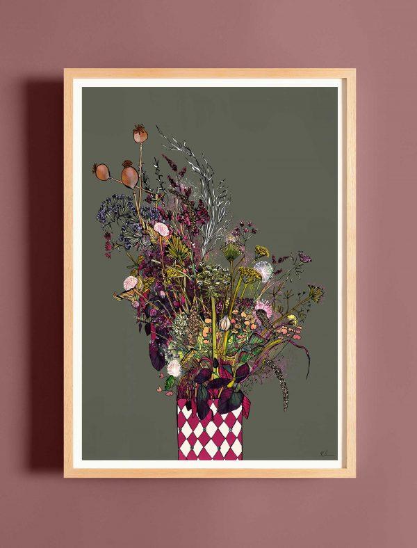 katie cardew autumn blooms print