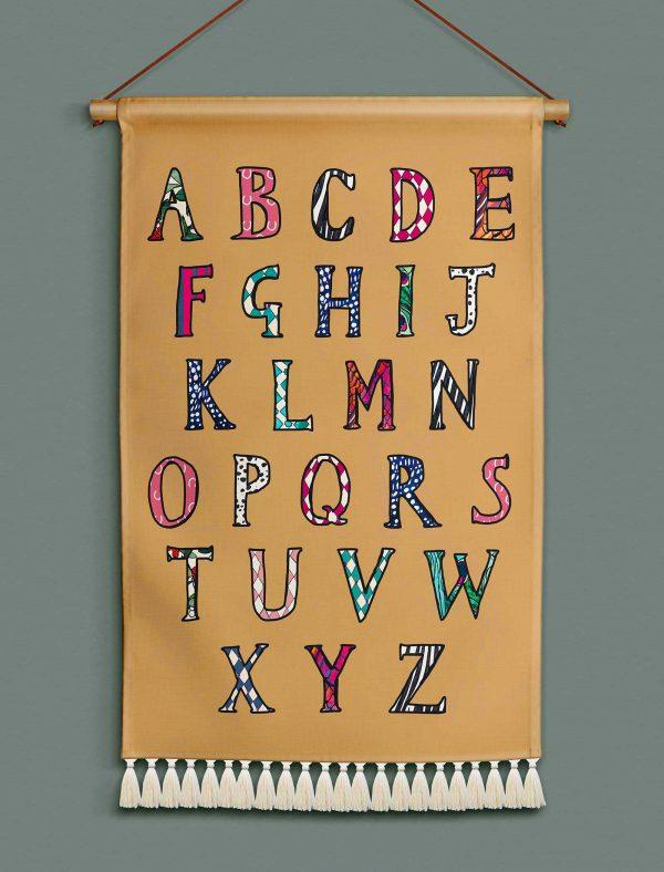 katie cardew wallhanging alphabet