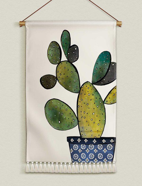 katie cardew wallhanging cactus