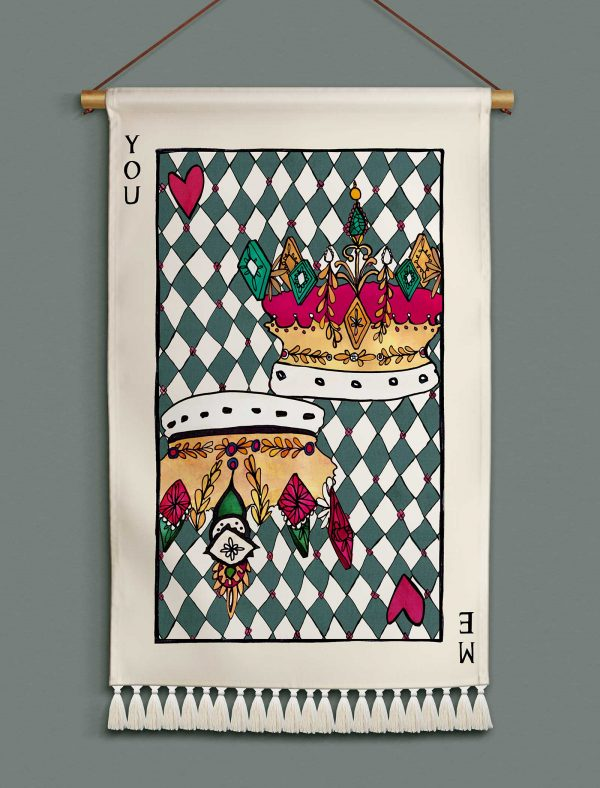 katie cardew wallhanging playing card