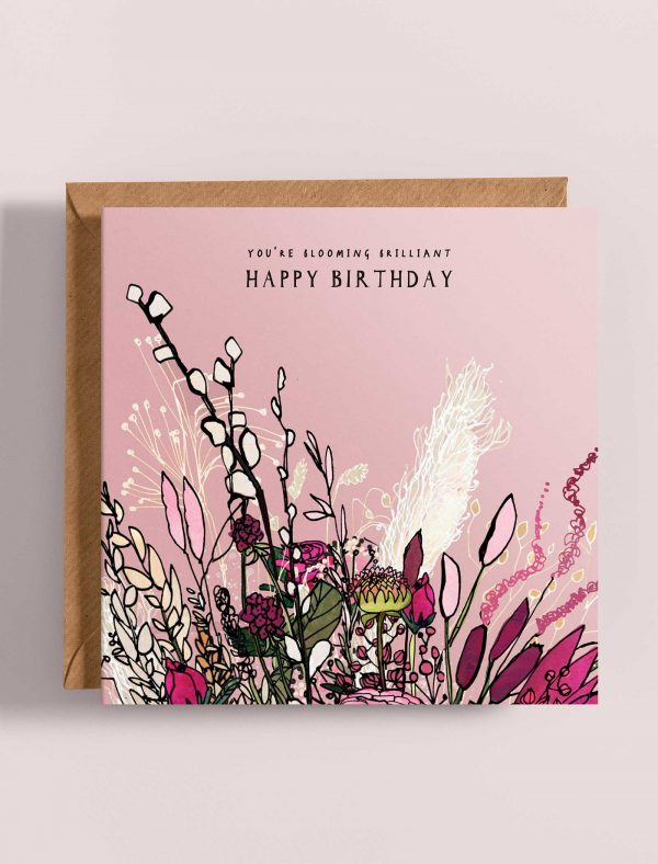 card birthday blooming web 1