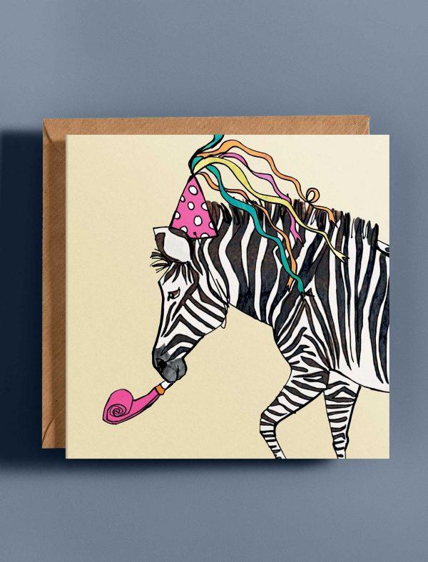 card birthday zebra web