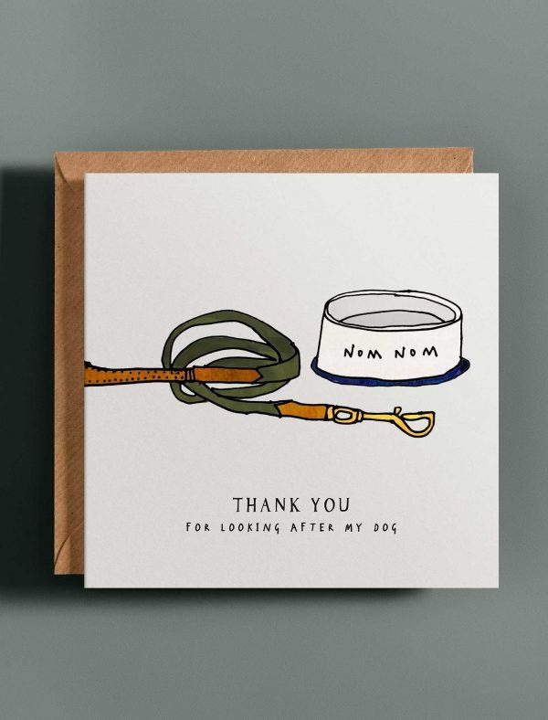 card thank you dog web