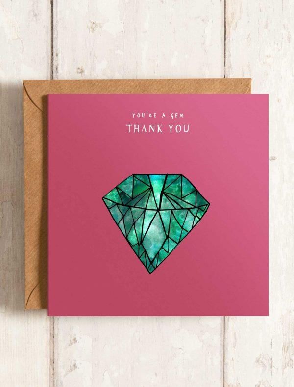 card thank you gem web
