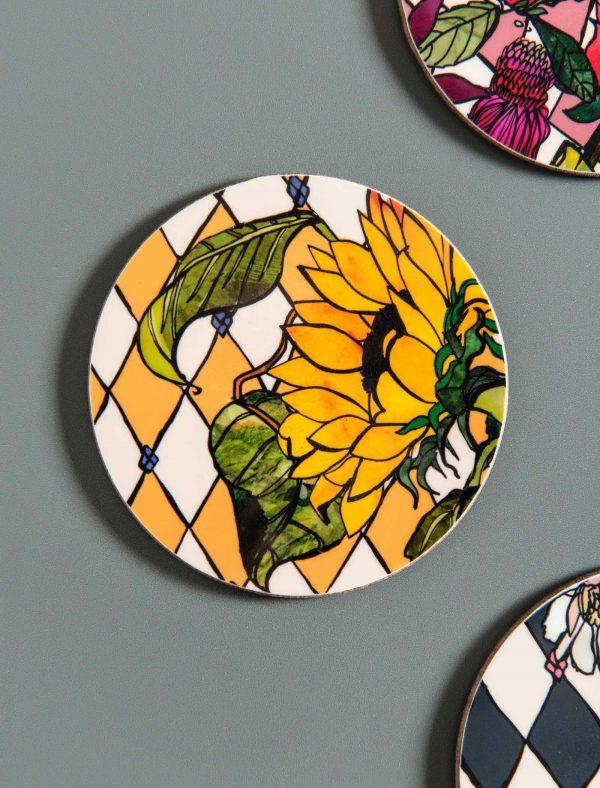 coaster sunflower 1