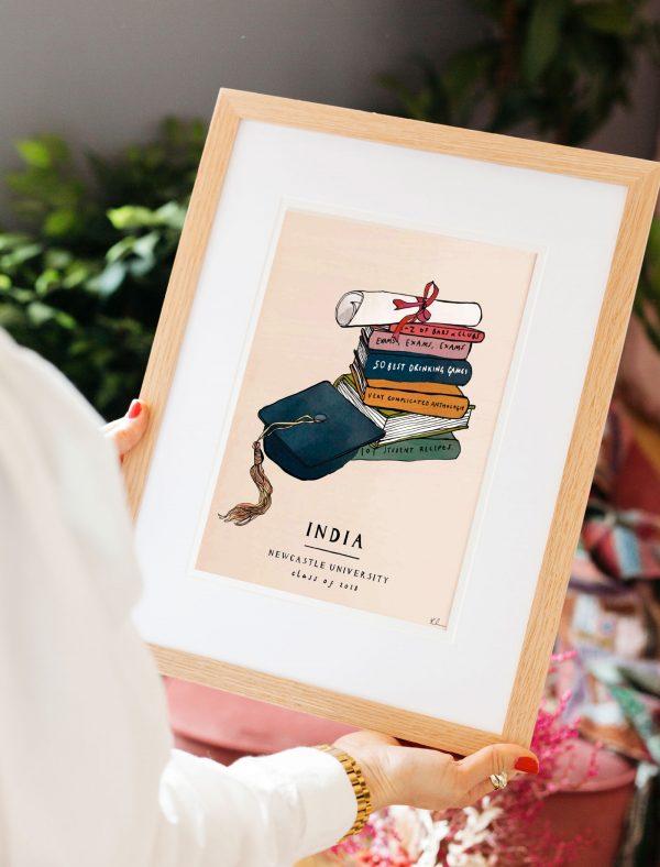 katie cardew personalised graduation print