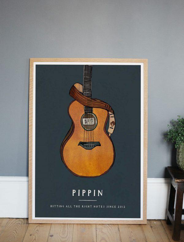 katie cardew personalised guitar print