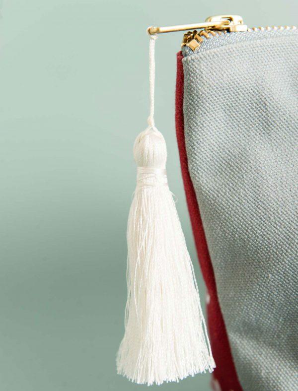 katie cardew horse life make up bag tassel