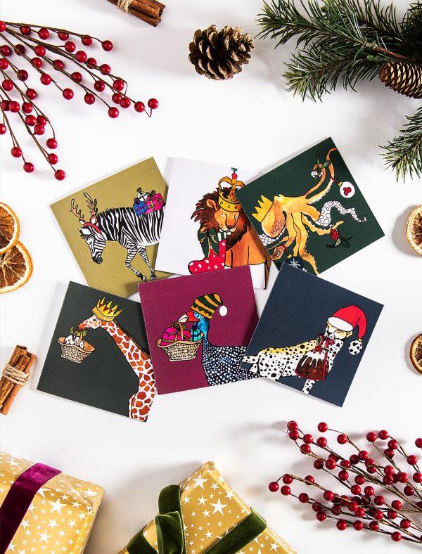 jolly animals xmas cards web2