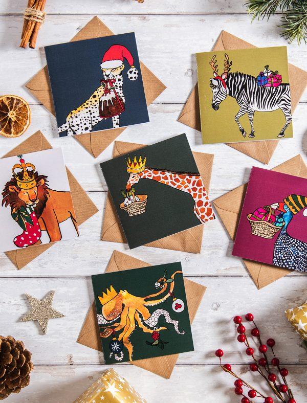 jolly animals xmas cards web3