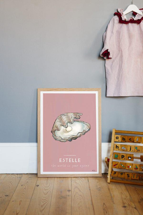 katie cardew personalised oyster print
