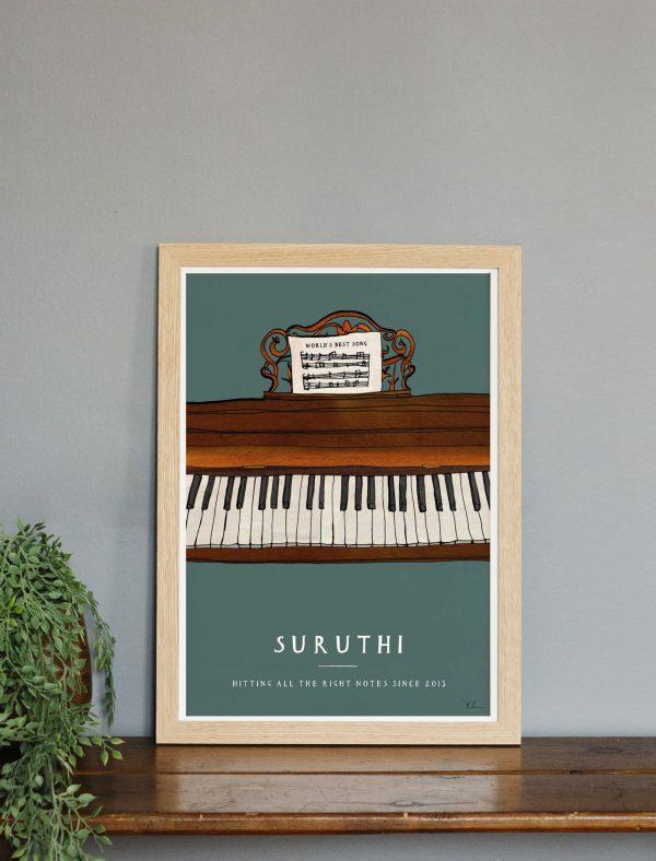 katie cardew personalised piano print