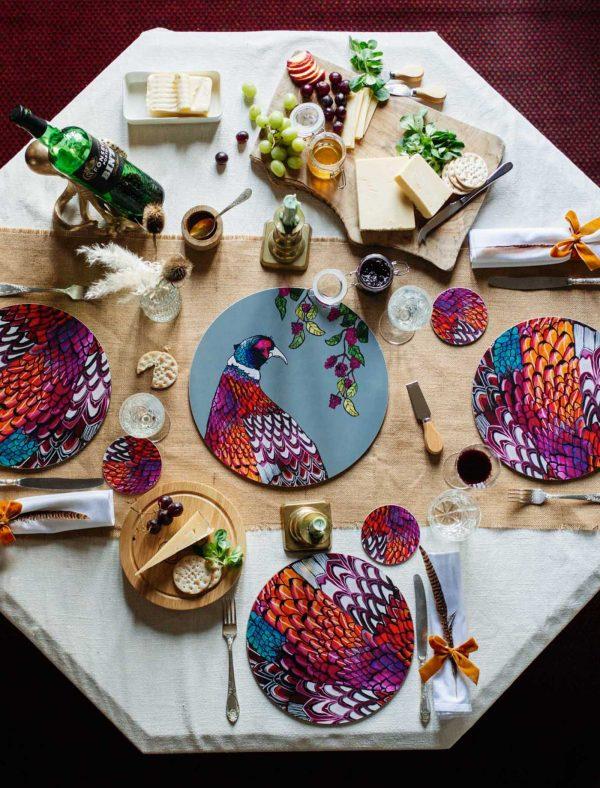 phesant tableware set