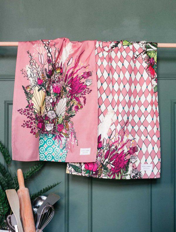 pink blooms pair